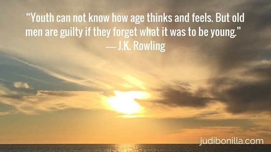 JK Rowling Quotes about aging