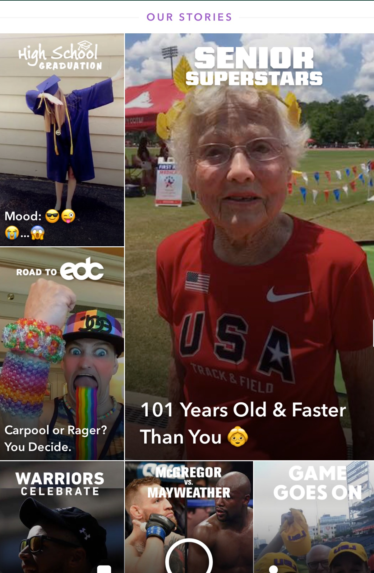 National Senior Games On Snapchat