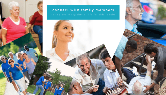 images of older adults on a vision board